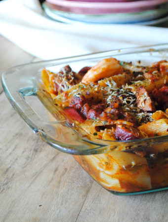 Spicy Sausage and Shrimp Pasta Jambalaya