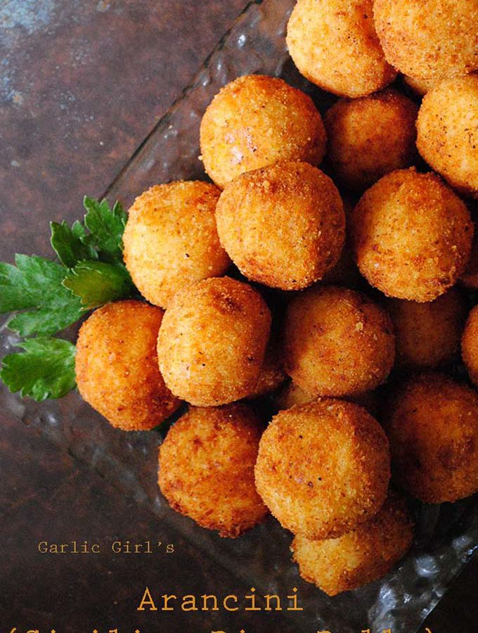 Garlic Girl's Arancini (Sicilian Rice Balls)