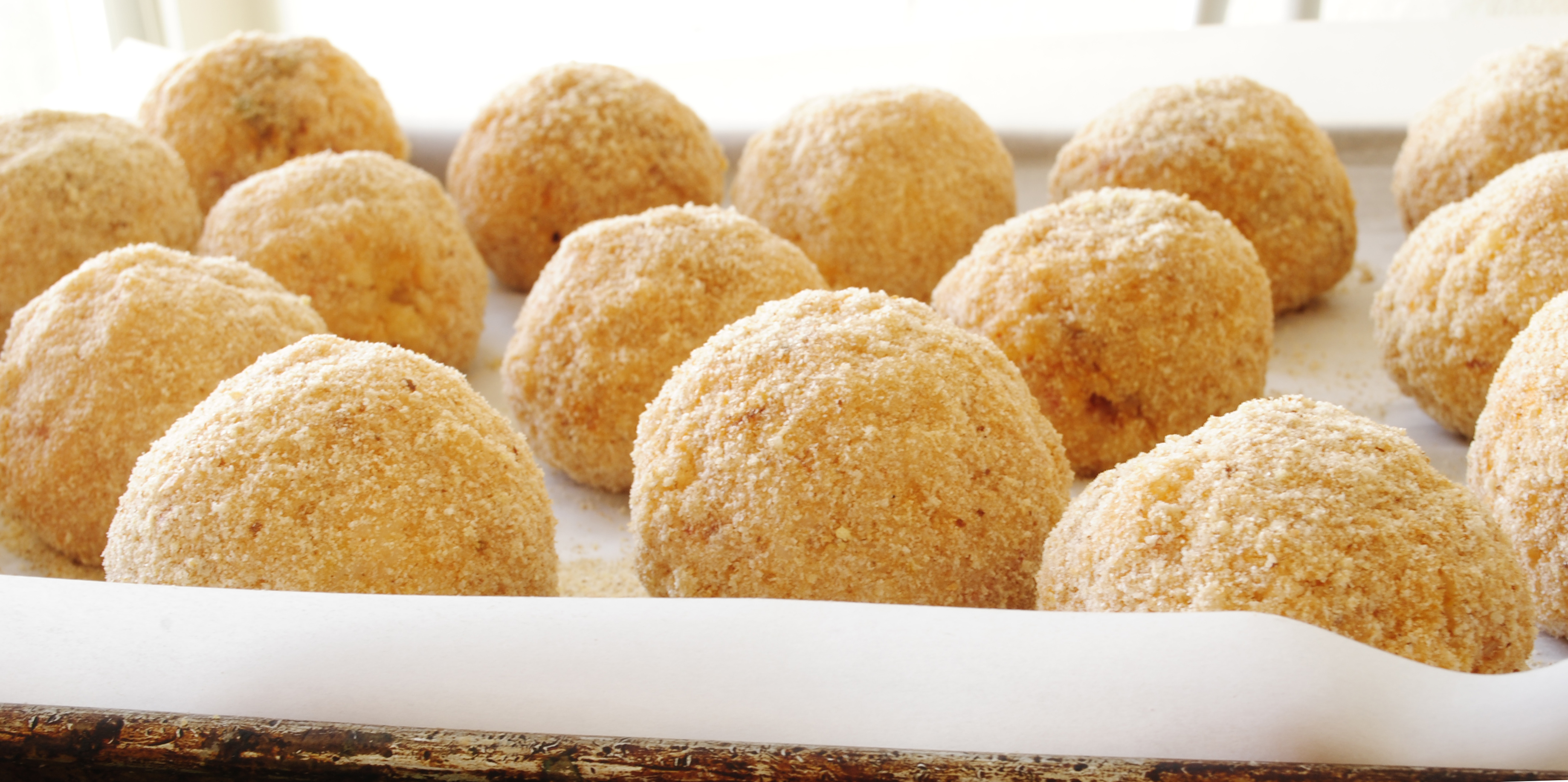 ... rice balls or arancini are typically deep fried rice balls or