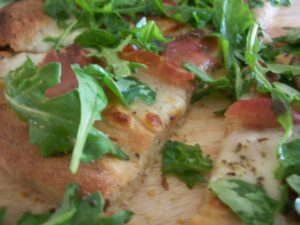 Prosciutto, Garlic and Lemony Arugula Pizza