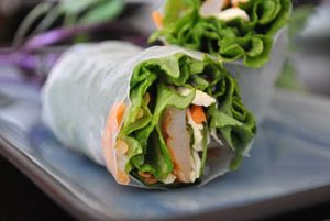 Fresh Spring Rolls with Homemade Peanut Sauce