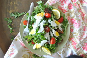 Rustic Arugula Salad with Lemon Vinaigrette