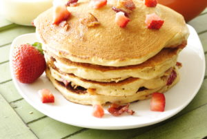 Bacon and Strawberry Pancakes