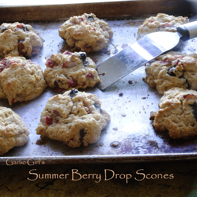 Summer Berry Drop Scones