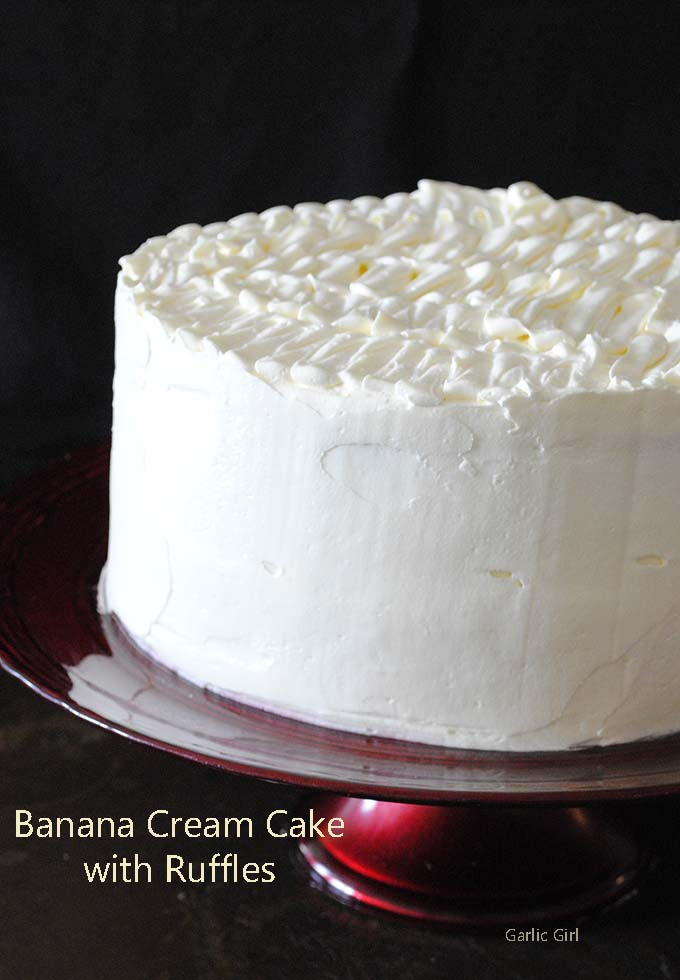 Banana Cream Cake with Ruffles