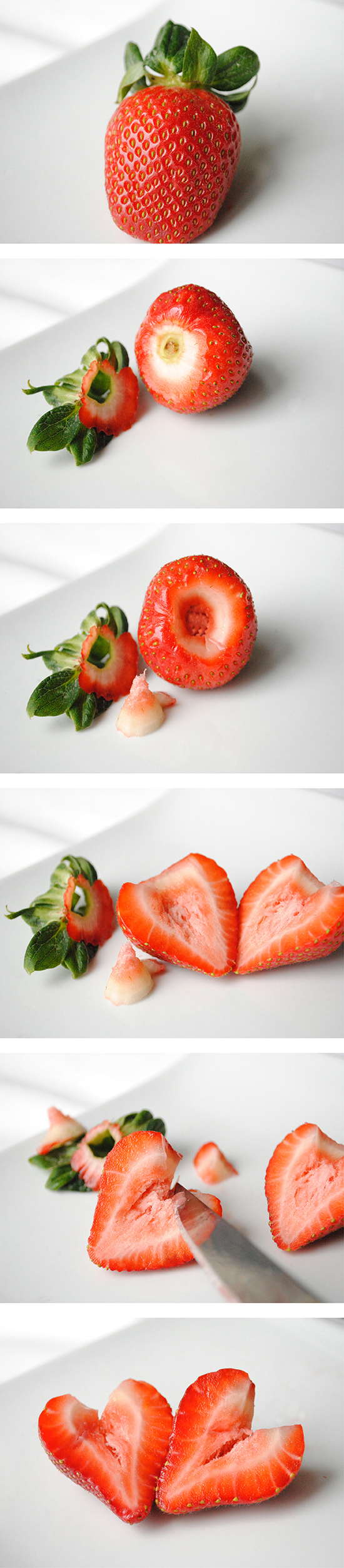 How to make strawberry hearts