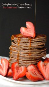 Strawberry Valentine Pancakes