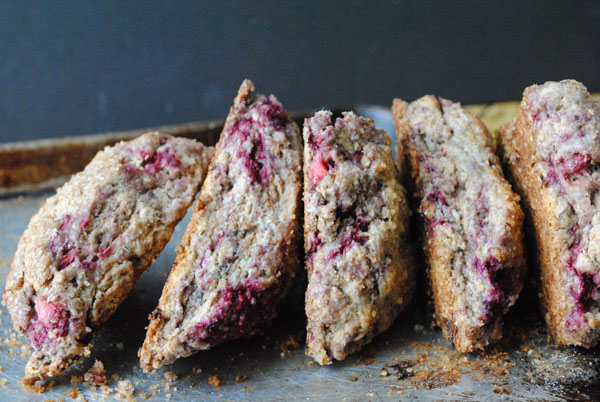 Rustic Raspberry and Strawberry Scones