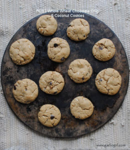 BEST Whole Wheat Chocolate Chip & Coconut Cookies