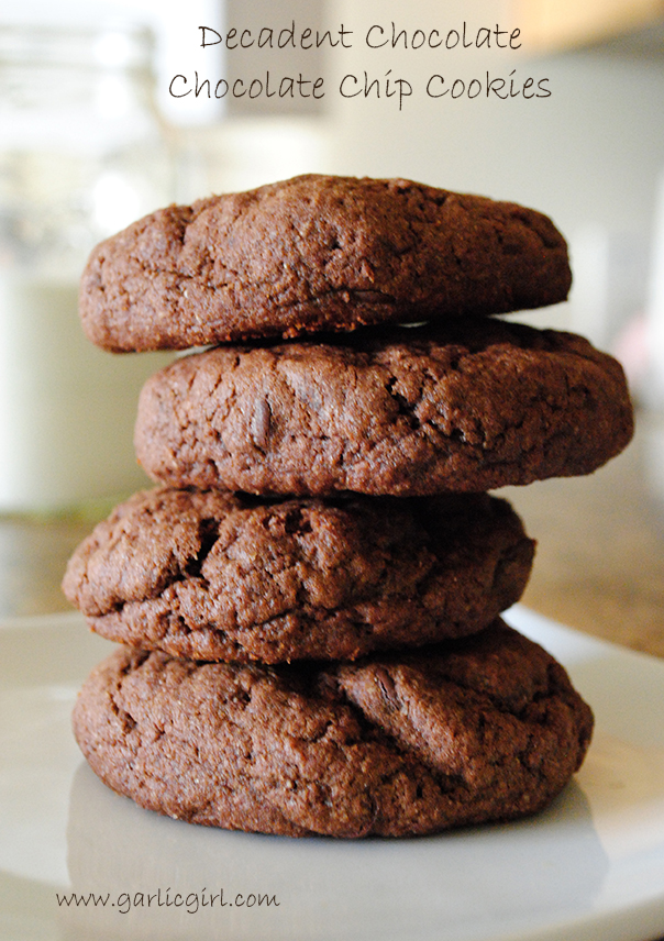 Decadent Chocolate Chocolate Chip Cookies