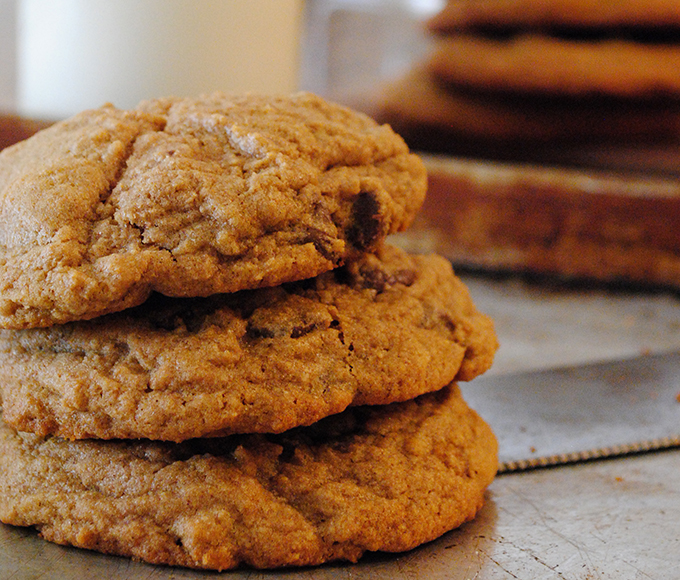 Thick & Chewy Whole Wheat Chocolate Chip Cookies