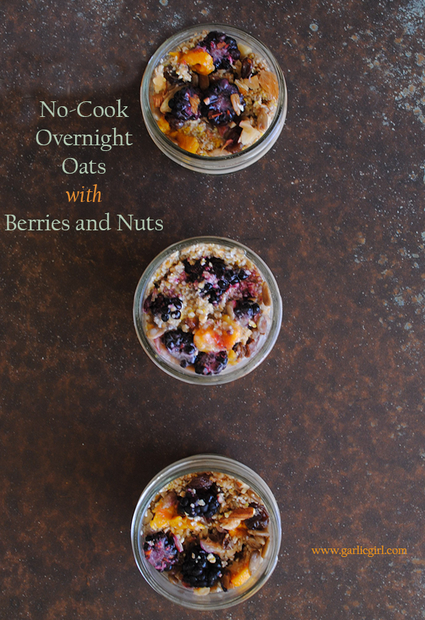 No-Cook Overnight Oats with Berries and Nuts