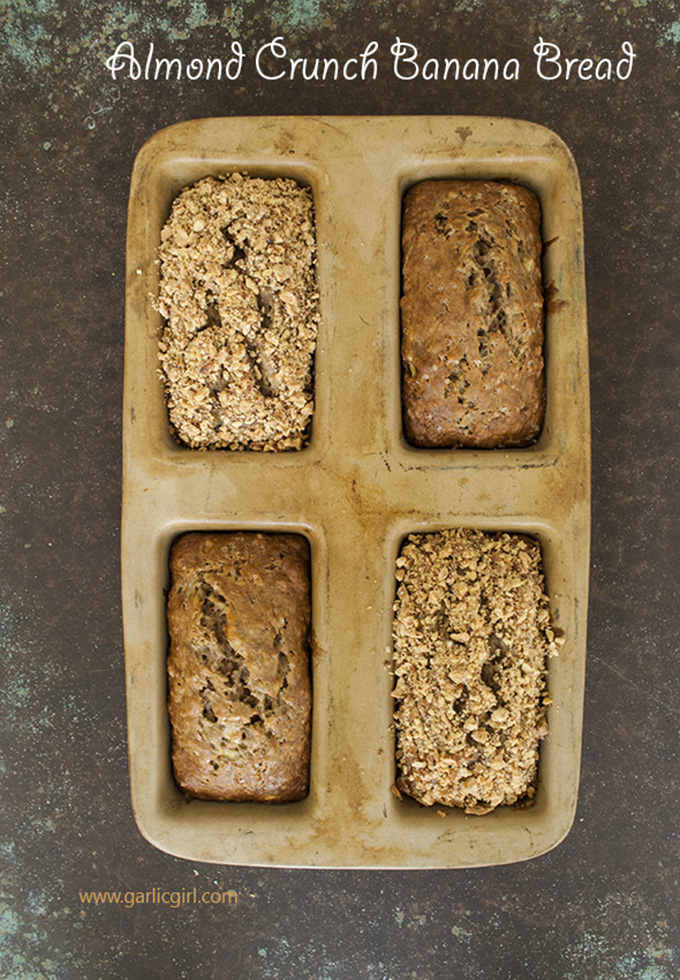 Garlic Girl's Almond Crunch Banana Bread