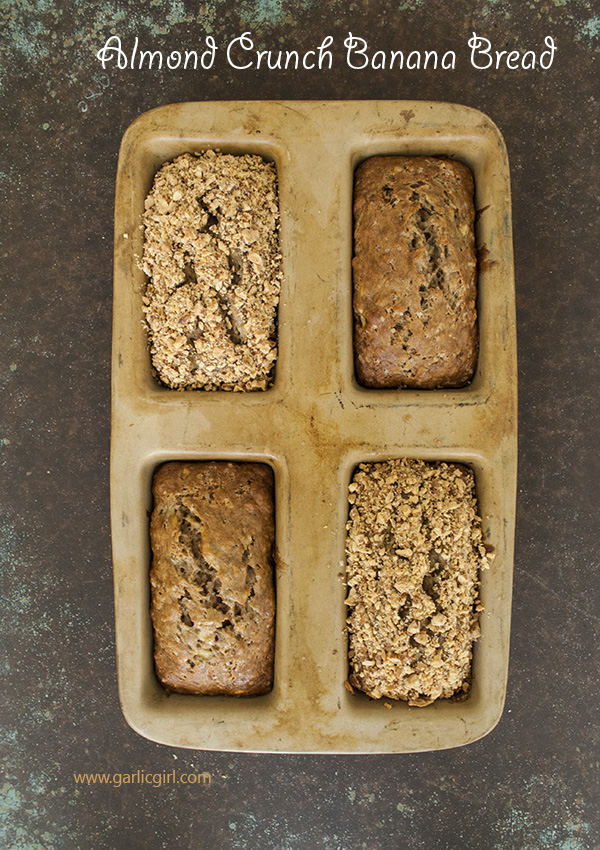 Almond Crunch Banana Bread