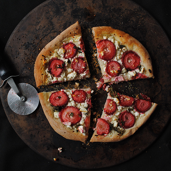 Strawberry Basil & Feta Cheese Pizza