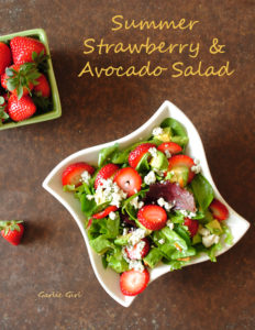 Summer Strawberry, Avocado and Blue Cheese Salad