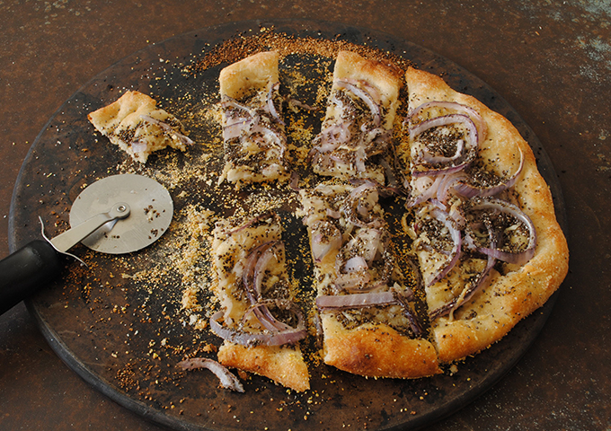 Onion and Poppy Seed Pizza