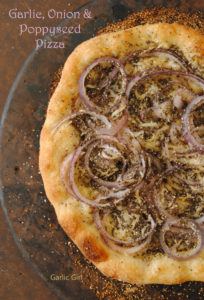 Garlic, Onion and Poppy Seed Pizza