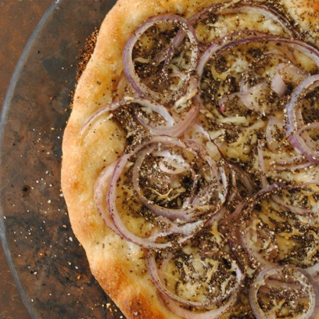 Onion and Poppyseed Pizza