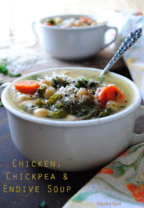 Chicken, Chickpea and Endive Soup