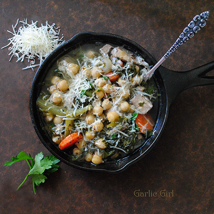 Chicken, Chickpea and Endive Soup 685 B