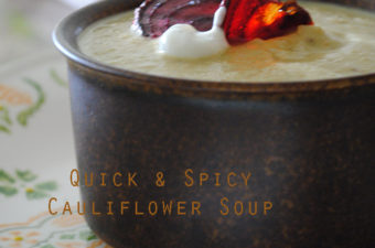 Quick and Spicy Cauliflower Soup