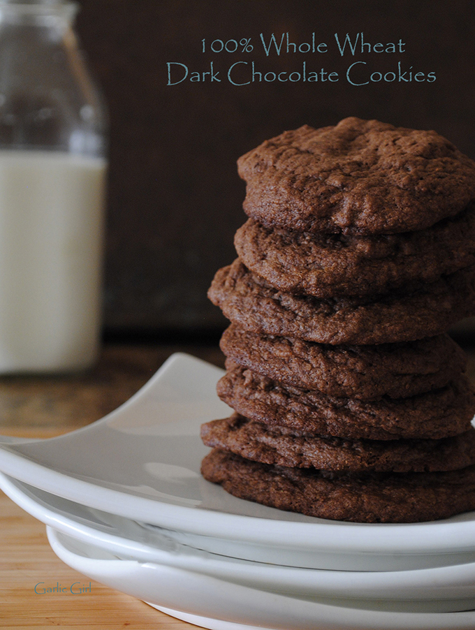 100 Percent Whole Wheat Dark Chocolate Cookies