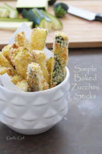Simple Baked Zucchini Sticks