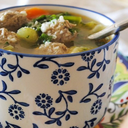 Garlic Girl's Italian Meatball Soup with Bone Broth