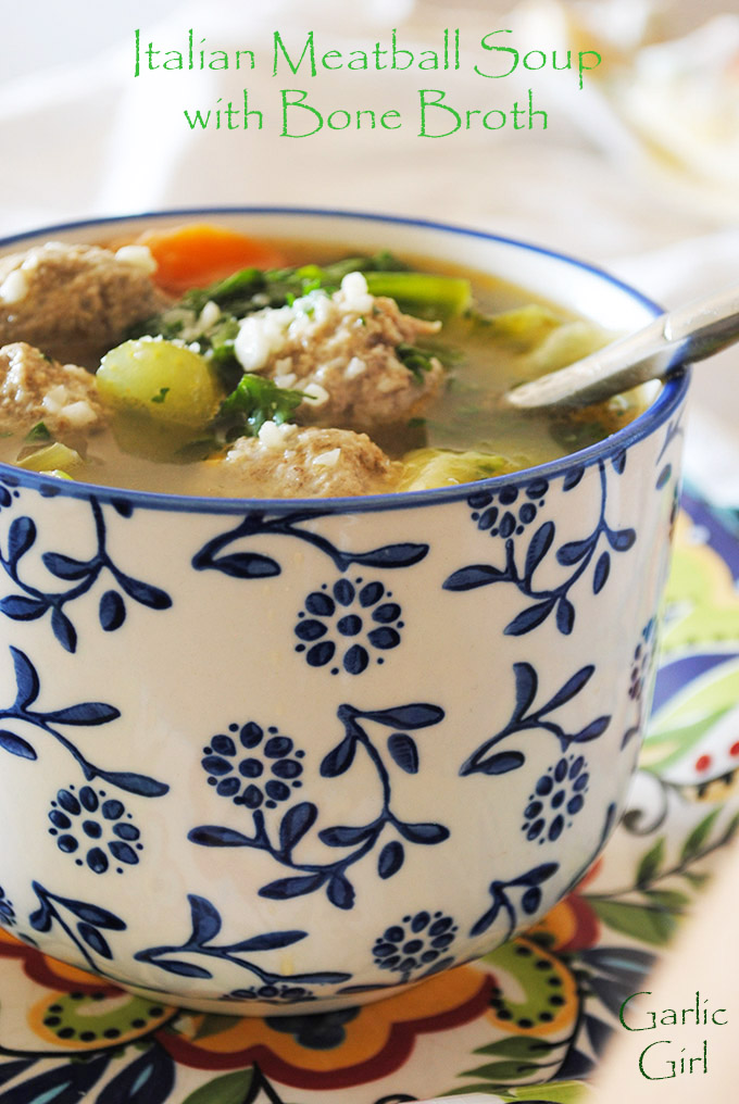 Italian Meatball Soup with Bone Broth