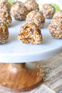 Gluten-Free, No-Bake Fruit and Nut Bites