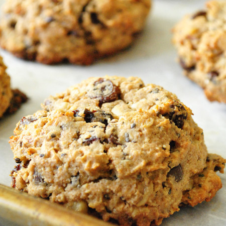Whole Grain Everything Breakfast Cookies