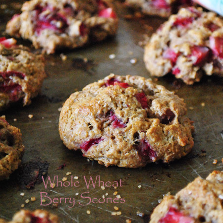 Whole Wheat Berry Scones
