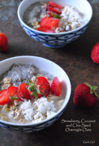 Strawberry, Coconut and Chia Seed Overnight Oats