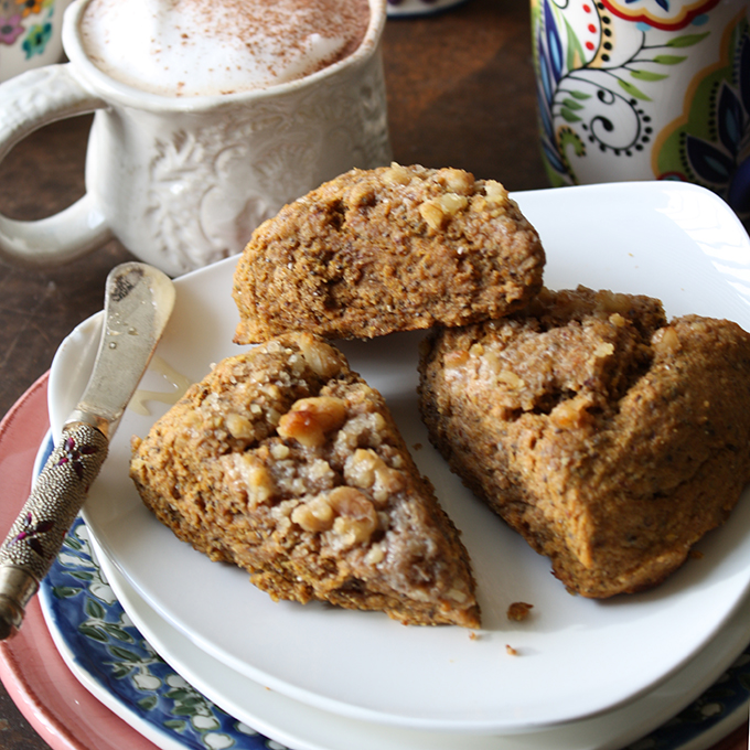 Nutty Pumpkin Pie Scones
