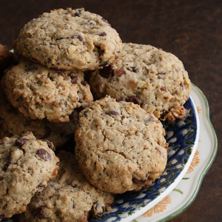 Chunky Hazelnut Breakfast Cookies