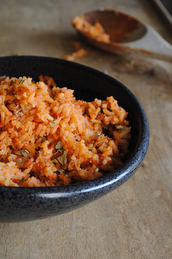 Simple Italian Rice with Tomato and Basil