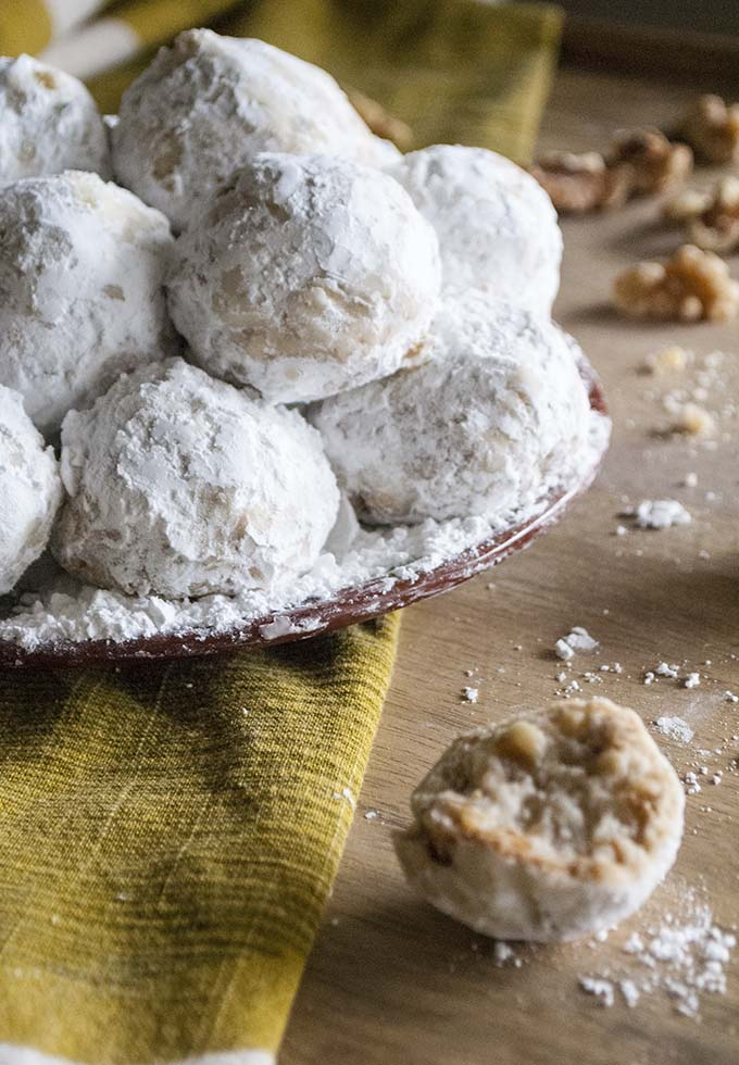 Easy and Buttery Walnut Snowball Cookies