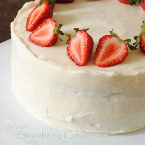 Terrific Strawberry Cream Cheese Cake And My Son Garlic Girl Birthday Cards Printable Riciscafe Filternl